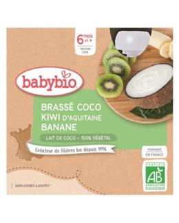 Gourdes Lactées Mes Brassés Lait de Coco Kiwi Banane