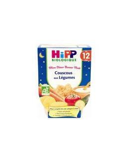 Menu Bonne Nuit Couscous aux légumes - 2 bols x 220g - 12 mois