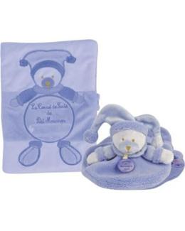 Protège carnet de santé +doudou lavande douceur macaron