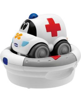 Voiture télécommandée rechargeable ambulance