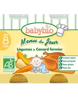 MENU DU JOUR Légumes et Canard fermier 200 g dès 8 mois