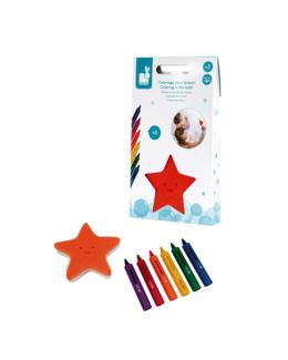 6 crayons de bain et éponge