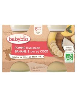Petits pots - Mes Fruits Pomme Banane Lait de Coco