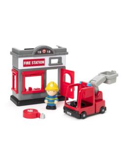 Mini caserne de pompier et accessoires