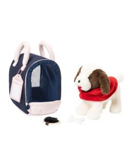 Peluche chien et sac de transport