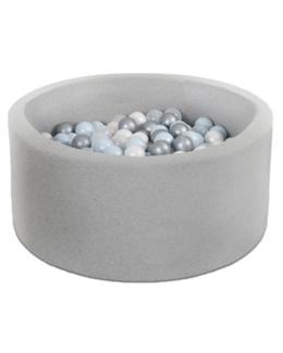 Piscine à balles ronde gris 90x40cm