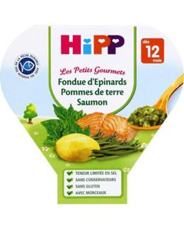 Fondue de Pommes de terre Légumes verts Saumon - Assiette 230g - 12 mois