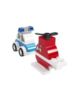 Duplo - Mes 1ers pas - L'hélicoptère des pompiers et la voiture de police