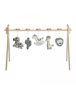 Arche d'activité Tipi + 5 jouets en tricot
