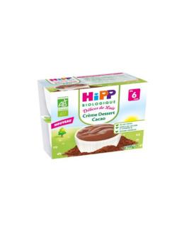 Crème Dessert Cacao - 4 coupelles x 100g - 6 mois