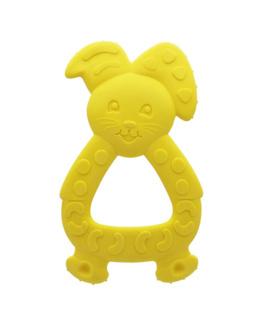 Anneau de dentition Lapin jaune arôme vanille