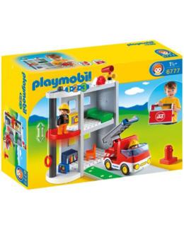 Playmobil 1.2.3 - Caserne de pompiers