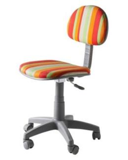 Chaise de bureau enfant sur roulettes