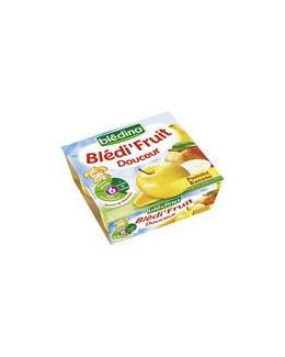 COMPOTINES Douceur pommes bananes 4x100 g des 6 mois