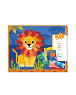 Coffret de collages Lion avec des bouclettes