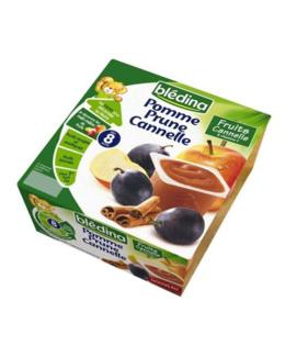 Coupelles fruits Pomme Prune Cannelle