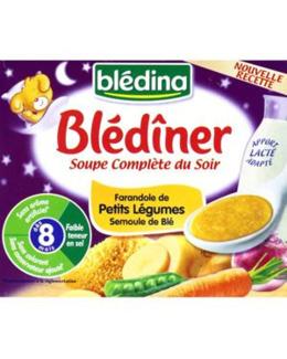 BLEDINER Soupe complète du soir - Farandole légumes/semoule 2x250ml