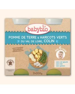 Petit pot Menu' Pommes de terre, haricots verts et colin