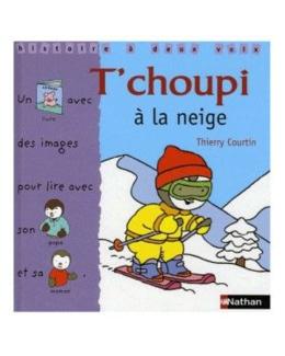 Livre T'choupi à la neige - histoire à deux voix