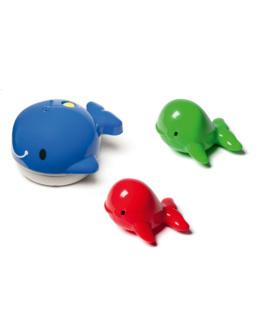 Jeu de bain magnétique famille Baleine