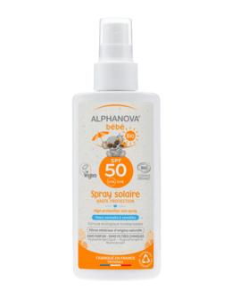 Spray solaire bébé bio SPF 50