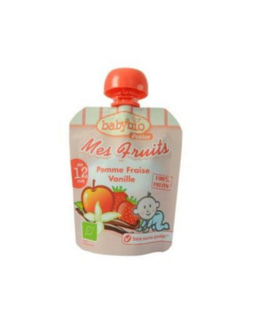 Mes Fruits Bio - Gourde Pomme Fraise Vanille - 4x90g