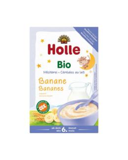 Bouillie au lait et aux bananes bio