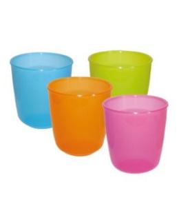 Lot de 4 verres et gobelets PLASTOREX sans BPA
