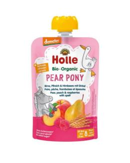 Gourde Pear Pony - poire, pêche, framboises et épeautre