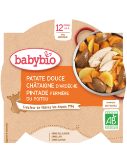Comptoée de Patate Douce Pintade fermière du Poitou Pruneaux à la Cannelle