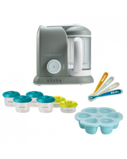 Pack Babycook Solo + Multiportions silicone + lot de 6 portions + 4 cuillères