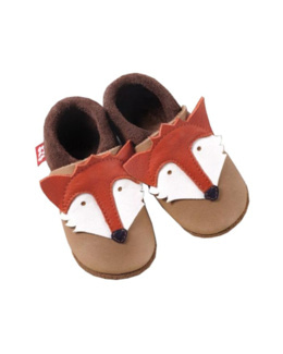 Chaussons en cuir Fox le Renard