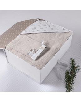 Coffret cadeau cape de bain et gant de toilette coton bio Imagine