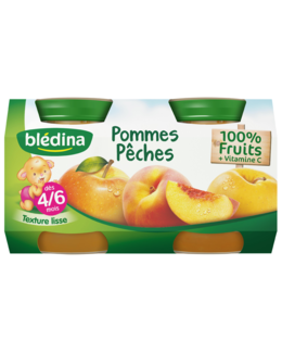 Pot Pommes Pêches 4x130g