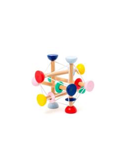 Hochet atome en bois