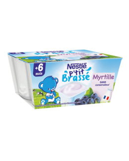 P'tit Brassé Myrtille (4x100g)
