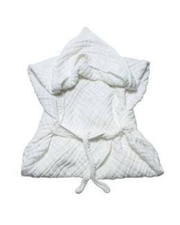 Serviette de bain en mousseline avec capuche et ceinture