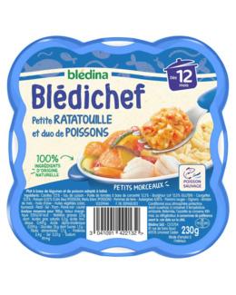 BLEDICHEF Petite ratatouille et duo de poissons