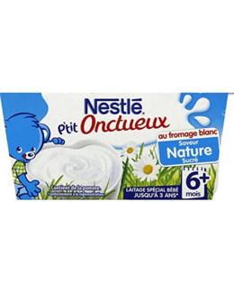 P'tit Onctueux - Dessert lacté au fromage blanc nature et sucré (dès 6 mois)