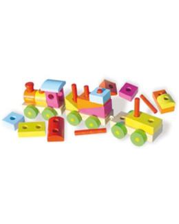 Grand train de cubes à construire