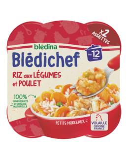 BLEDICHEF Riz aux légumes et poulet