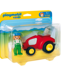 Playmobil 1.2.3 - Agricultrice avec tracteur