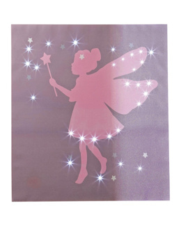 Toile lumineuse fée chambre fille