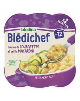 BLEDICHEF Fondue de courgettes et petits macaroni