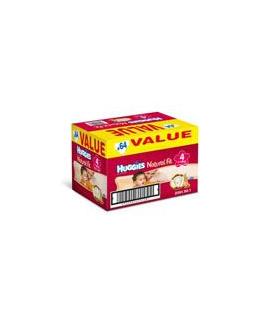 HUGGIES Natural Fit T4 714 kg VALUE BOX de 64 couches