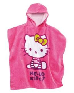 Cape de bain fille Hello Kitty a capuche forme poncho