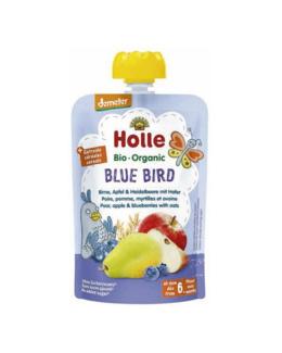 Blue Bird - Gourde poire, pomme, myrtilles et avoine