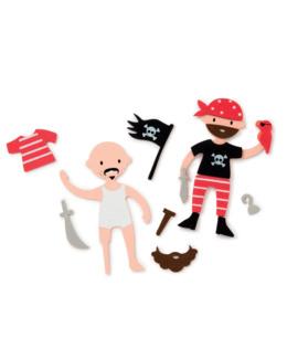 6 pirates en mousse à créer