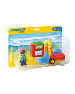 Playmobil 1.2.3 - Chariot élévateur