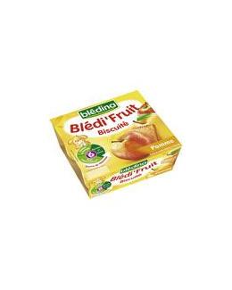 BLEDI FRUIT Biscuite pomme 4x100 g dès 6 mois